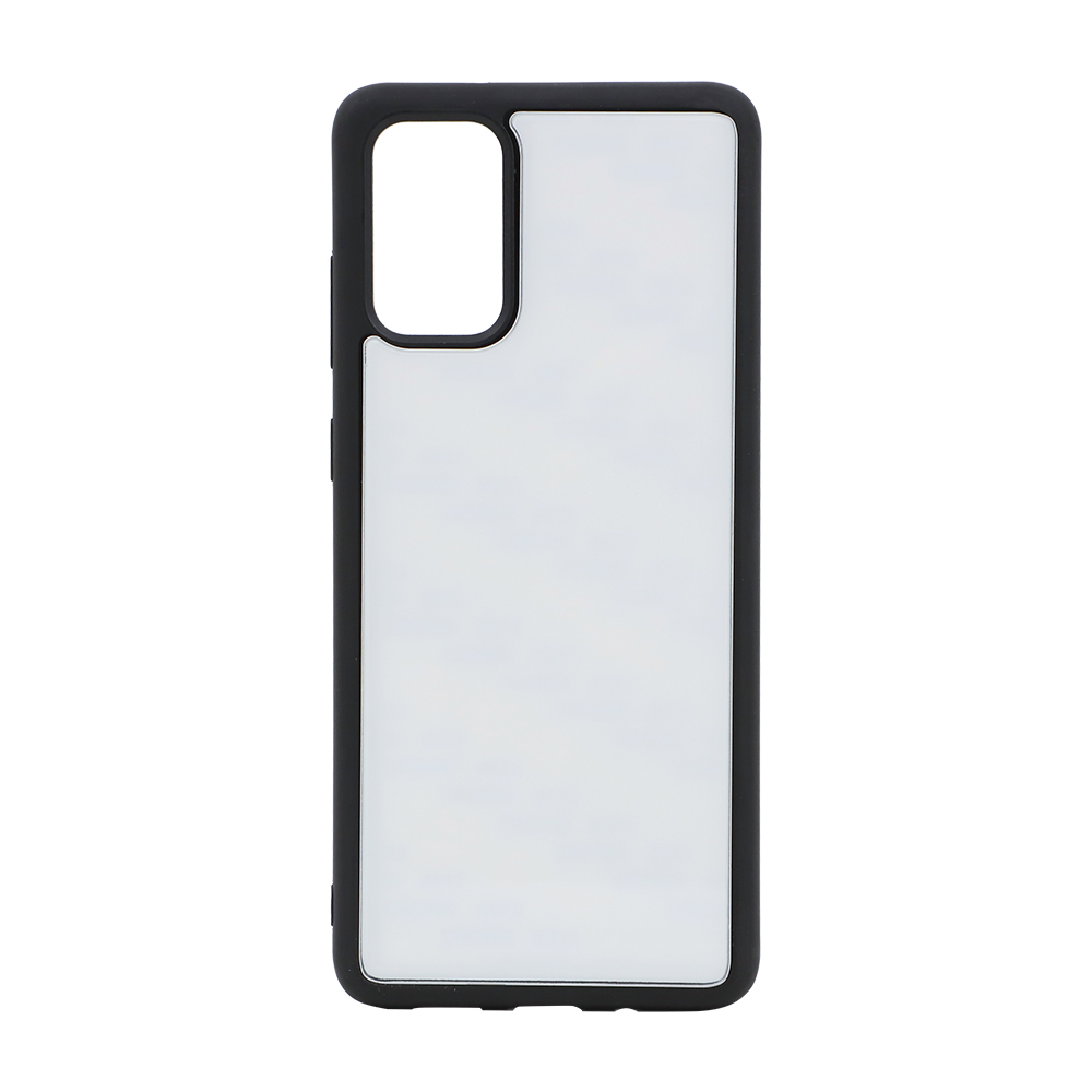 Blank TPU Phone Case with Tempered Glass Insert for Samsung S20+
