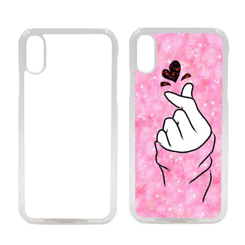 Sublimation PC Phone Case with Aluminum Insert for iPhone XR