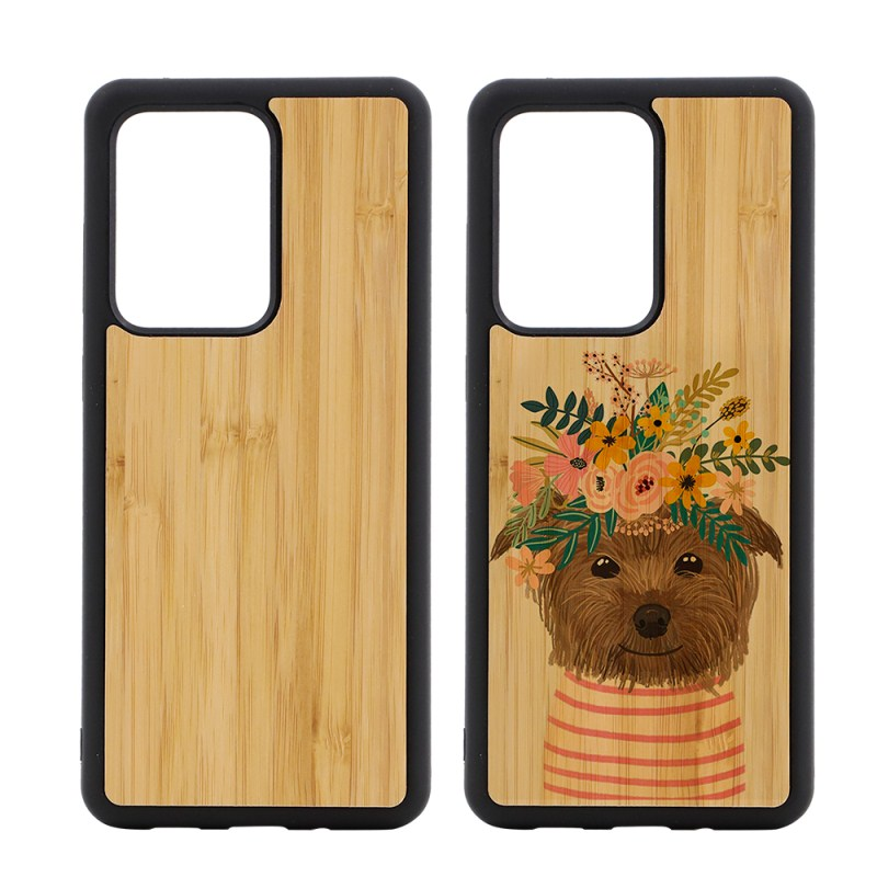 Sublimation TPU Phone Case with Bamboo for Samsung S20 Ultra