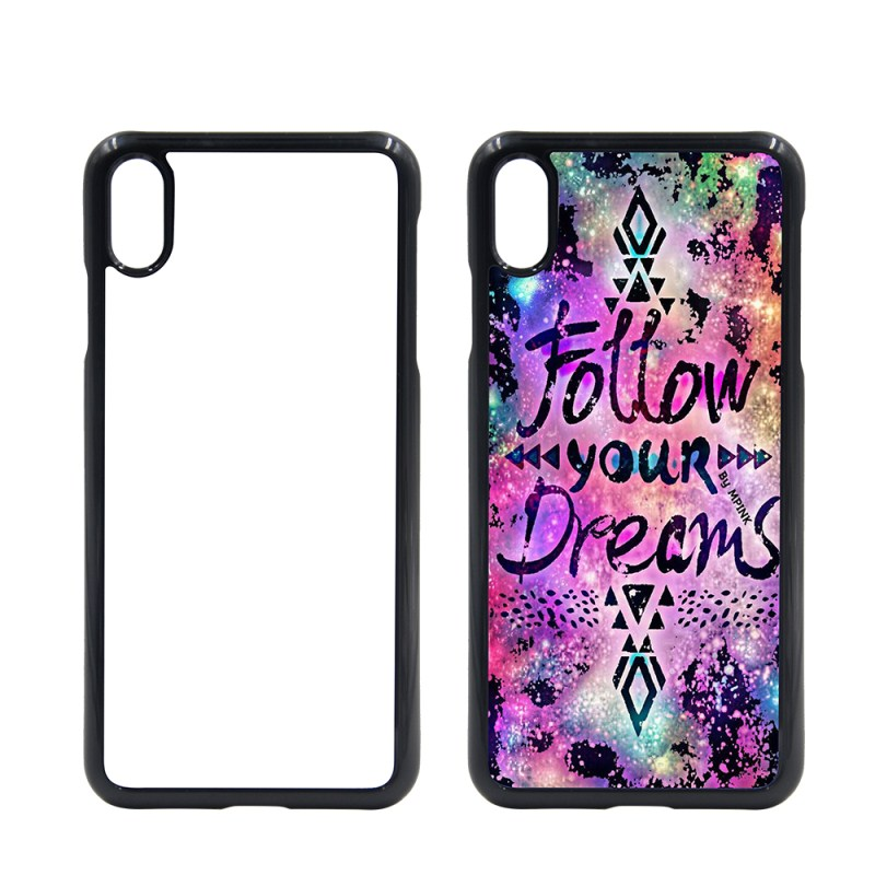 Blank PC Phone Case for Sublimation with Aluminum Insert  for iPhone XS MAX
