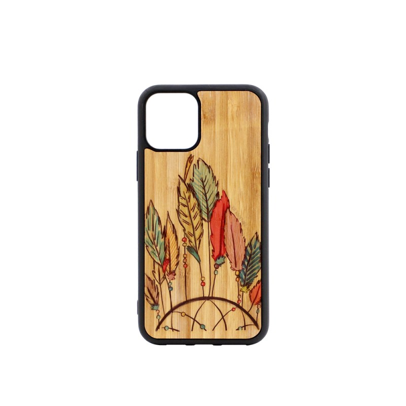 Sublimation TPU Phone Case with Bamboo for iPhone 11