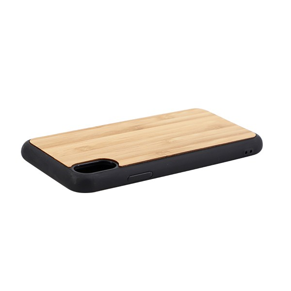 Sublimation TPU Phone Case with Bamboo for iPhone XS