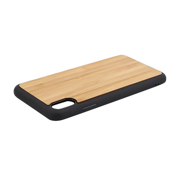 Sublimation TPU Phone Case with Bamboo for iPhone XS Max