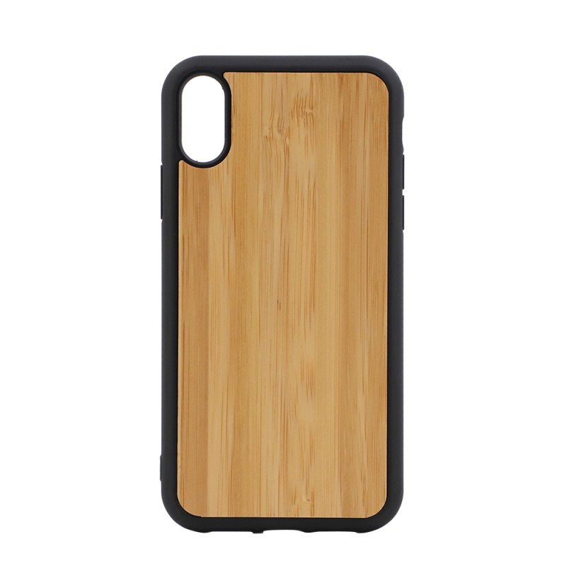 Sublimation TPU Phone Case with Bamboo for iPhone XR