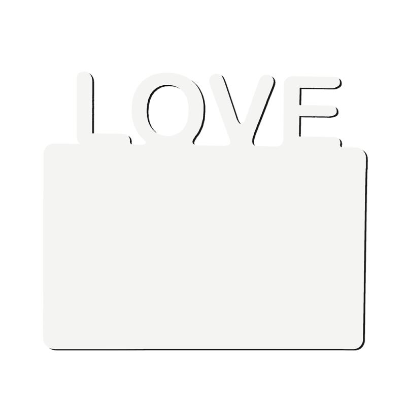 MDF Panel with Horizontal LOVE