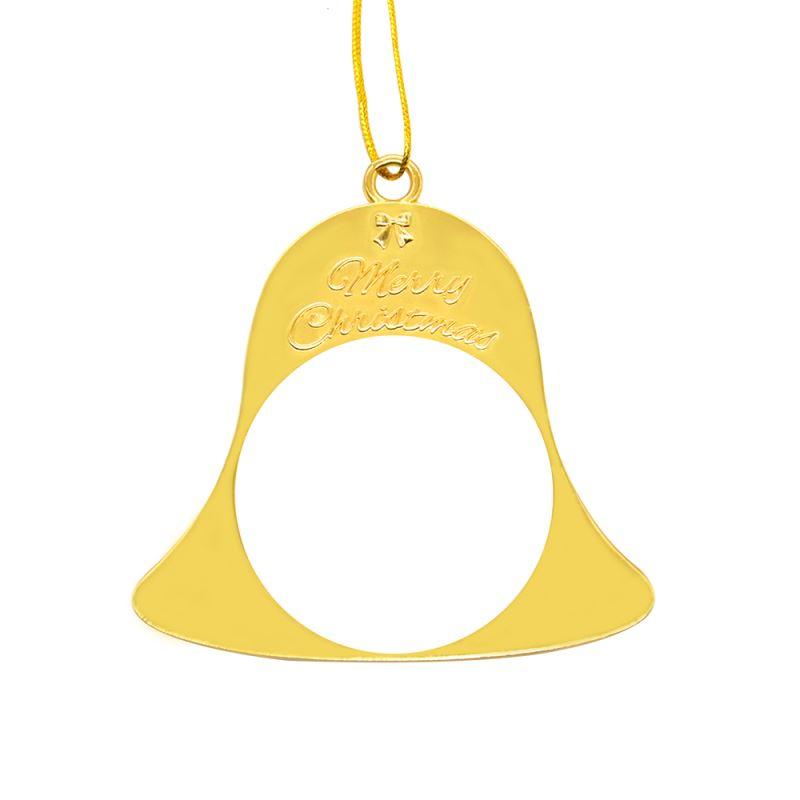 Metal Xmas Ornaments-Bell-Golden