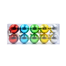 Electroplated Assorted Xmas Ball-With PVC Gift Box(Dia 8CM)