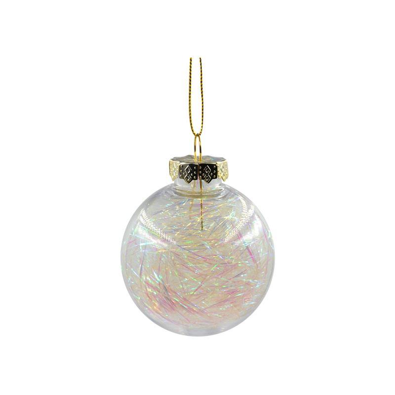 PET Ball with glitter- White-Dia:6cm