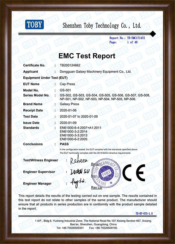 EMC Test Report-Cap Press