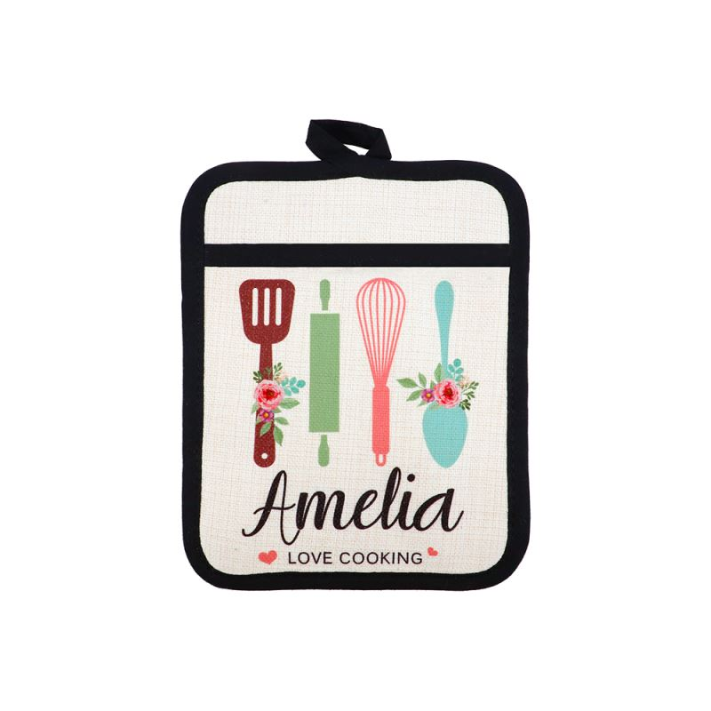 Sublimation Linen Pot Holder with Rubber Back