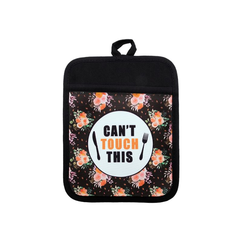 Sublimation Canvas Pot Holder with Rubber Back