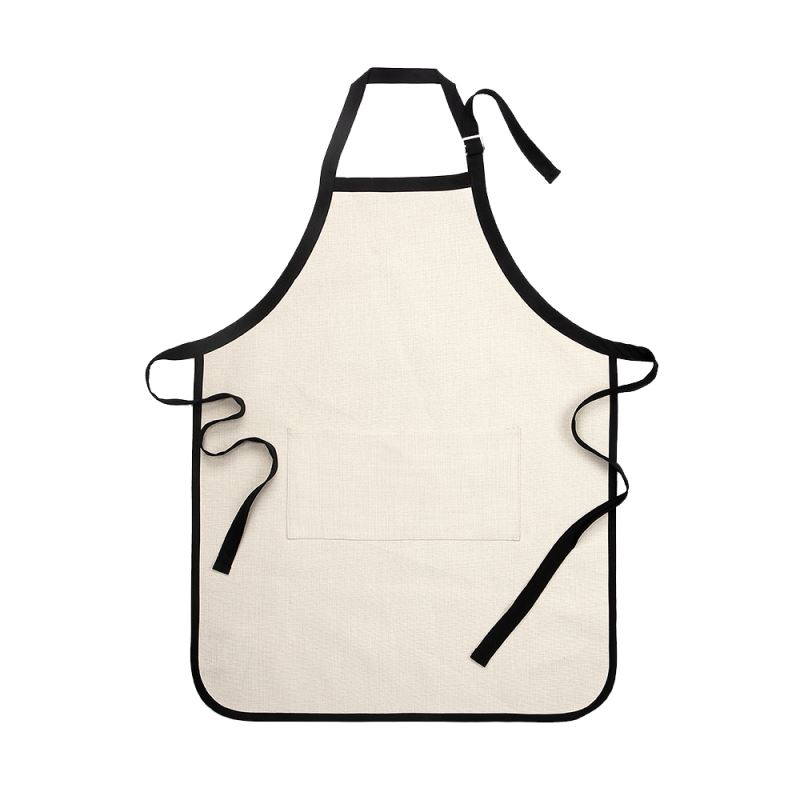 Sublimation Linen Adults Apron with Black Edge and Strip - 84*64cm