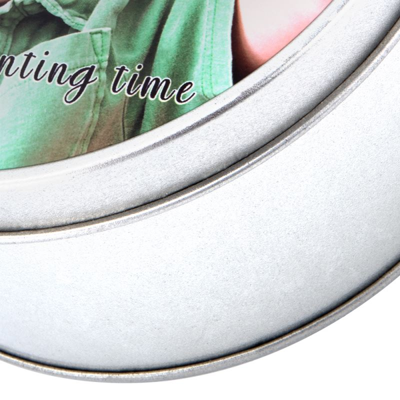 sublimation round metal tin box
