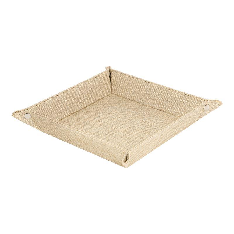 Sublimatable Burlap Snap Up Tray-Large Size
