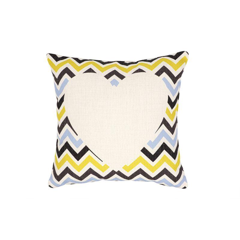 Linen Pillow Case - Double Side Heart Printable Part - Stripe