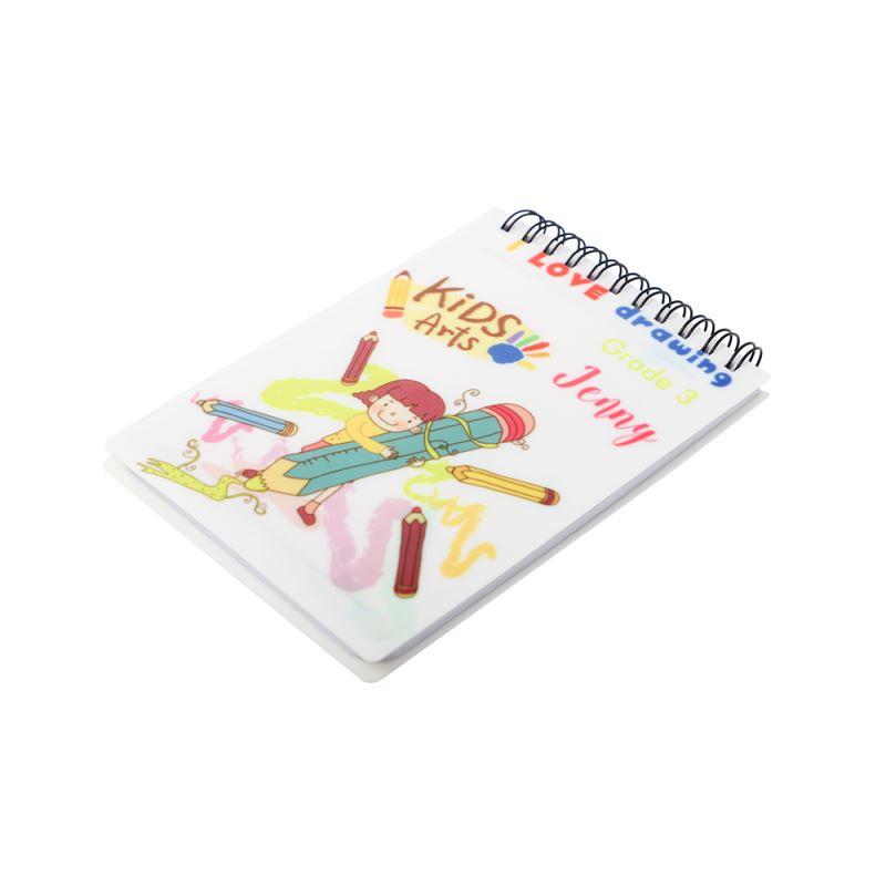 Plastic Cover Notebook Blank A6-Glossy/Matt