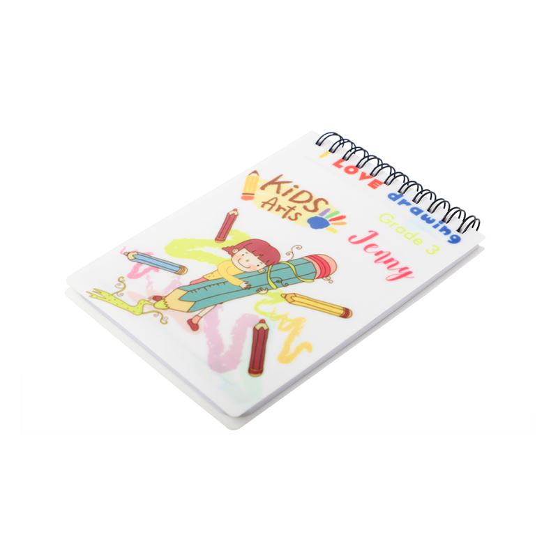 Plastic Cover Notebook A6 with Black Lines-Glossy/Matt