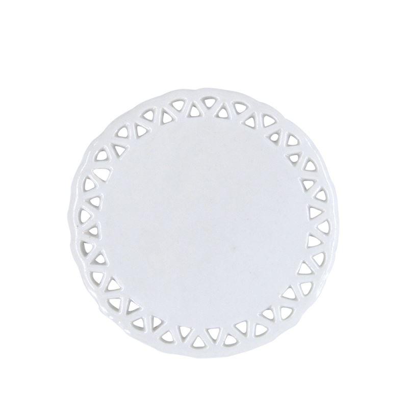 Ceramic Ornaments-Round Heart Hole