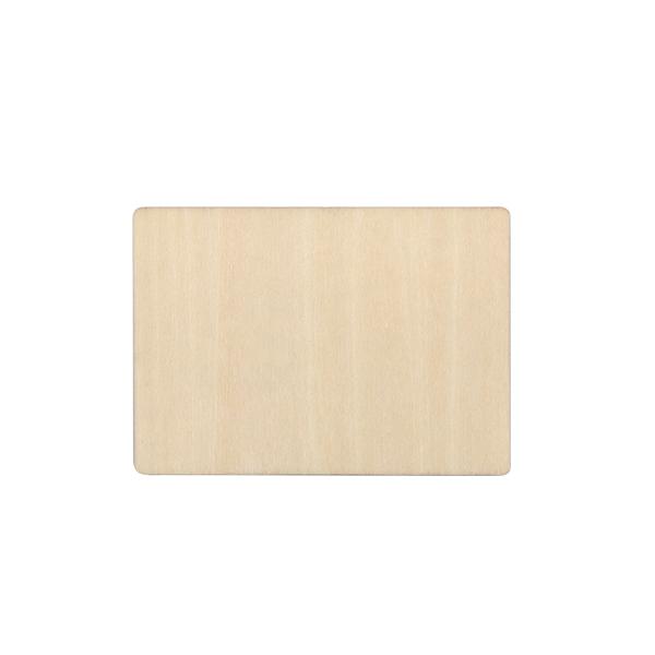 Natural Wood Fridge Sticker-Rectangle