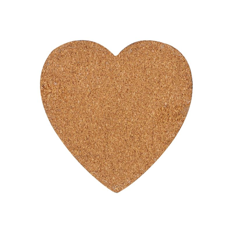 MDF Coaster With Cork-Heart