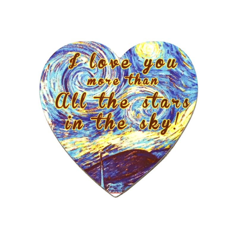 MDF Fridge Sticker-Heart