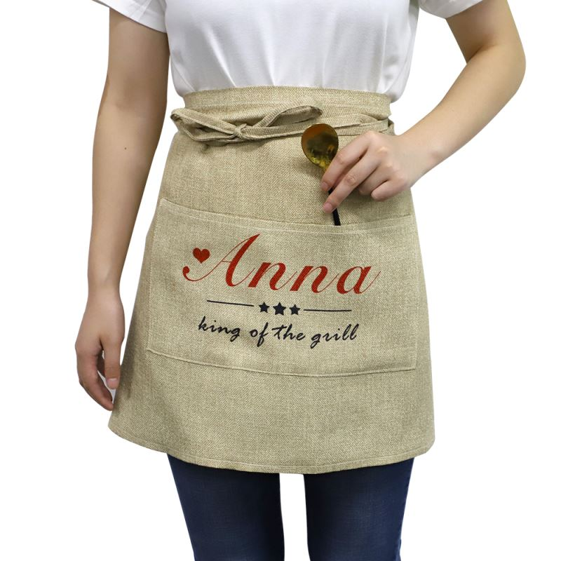 blank apron