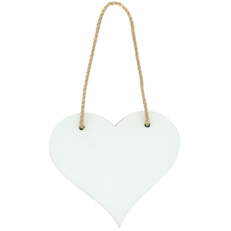 MDF Plaque-Double Side Printable-Heart