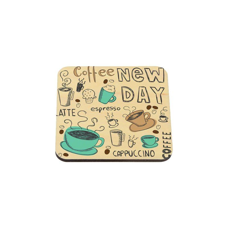 Natural Wood Coaster-Single Side Printable