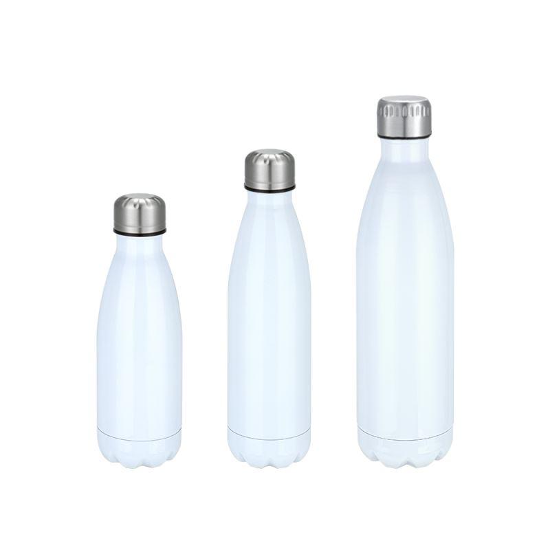 Cola Shape Stainless Steel Bottle - White
