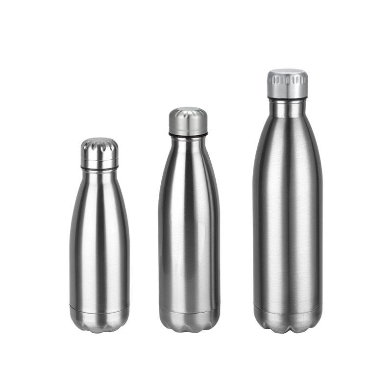 Cola Shape Stainless Steel Bottle - Green