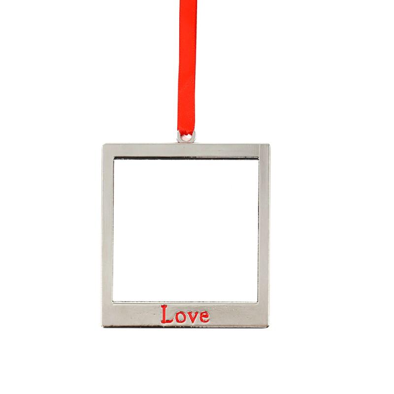 Sublimation Square shape Ornaments-Joy&Love
