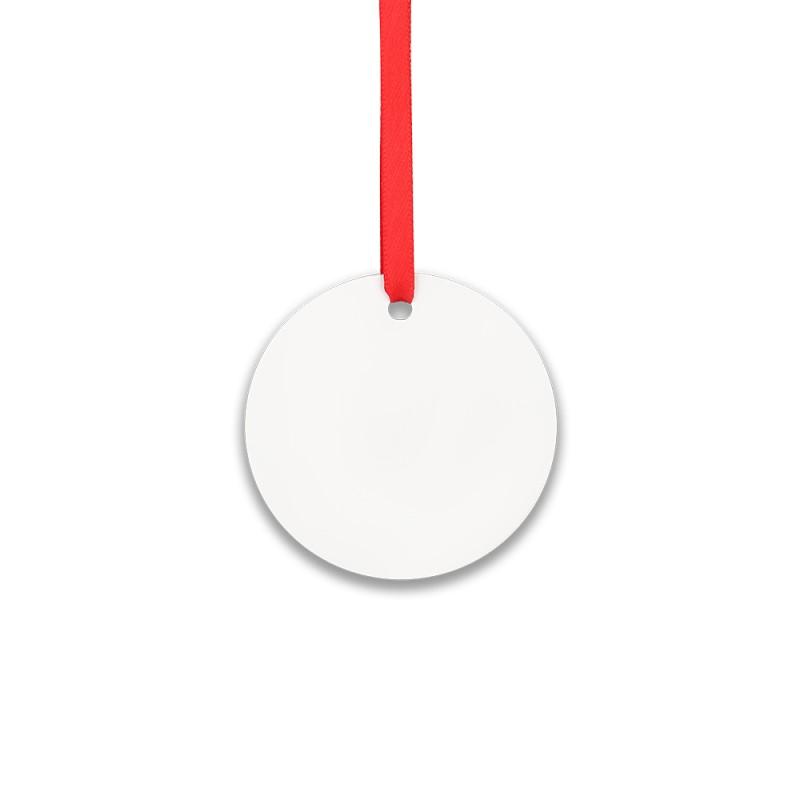 "Double-side Printable Aluminum Ornaments-Round Shape-3""x3""(76.2x76.2mm)"