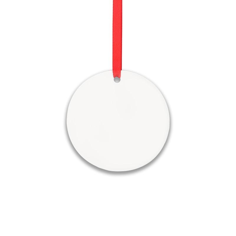 Double-side Printable Aluminum Ornaments-Round Shape-3.5