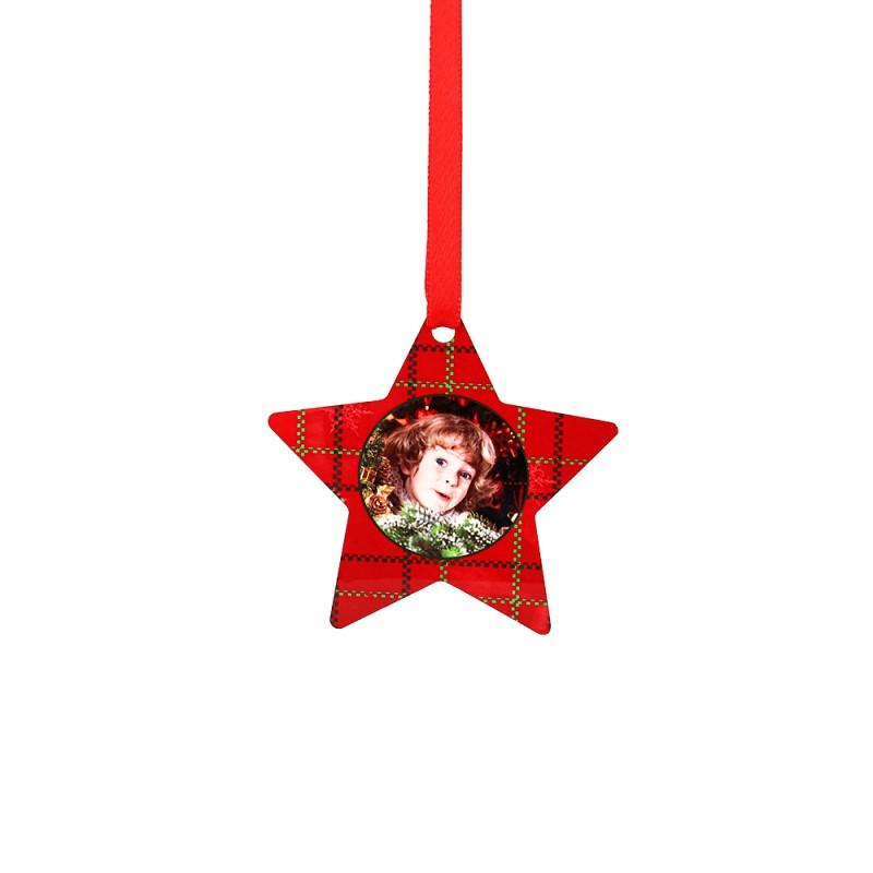 Double-side Printable Aluminum Ornaments-Star Shape-3