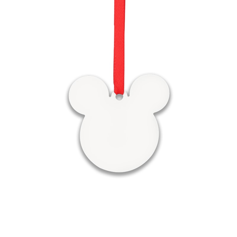 Double-side Printable Aluminum Ornaments-Mickey Shape-2.99