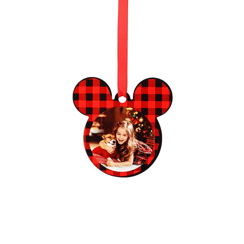 "Double-side Printable Aluminum Ornaments-Mickey Shape-2.99""x2.99""(76x76mm)"