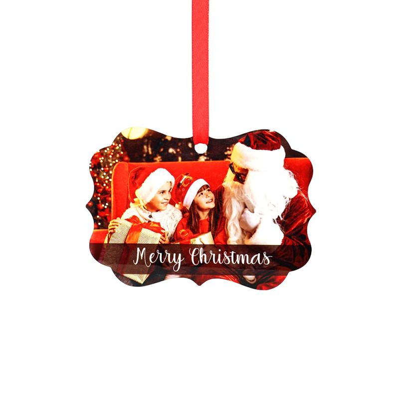 "Double-side Printable Aluminum Ornaments-Irregular Shape-2.99""x4.25""(76x108mm)"