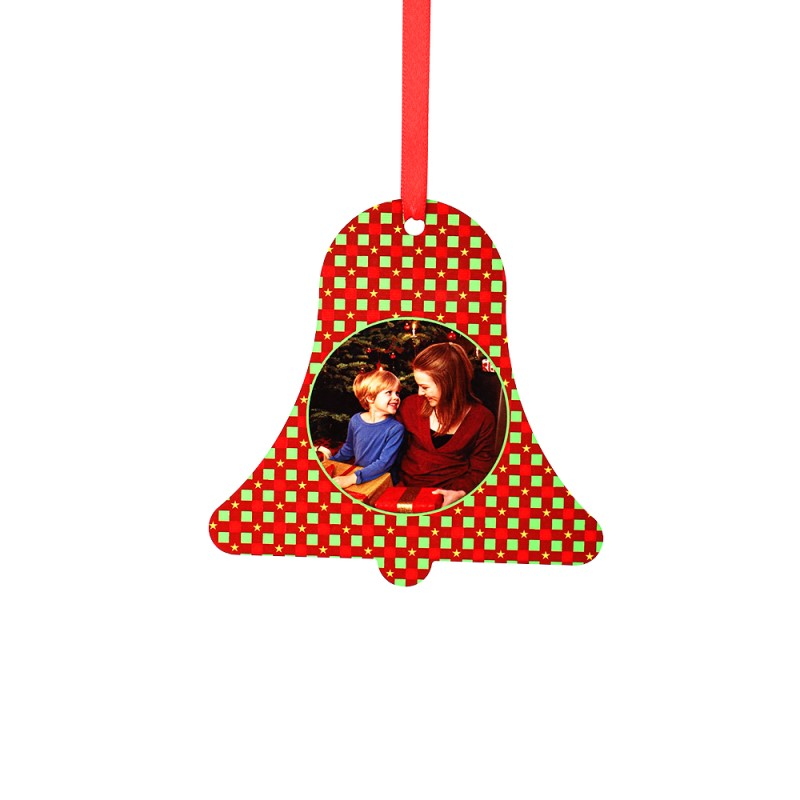 """Double-side Printable Aluminum Ornaments-Bell Shape-4.53""""x4.5""""(115x115mm)"""