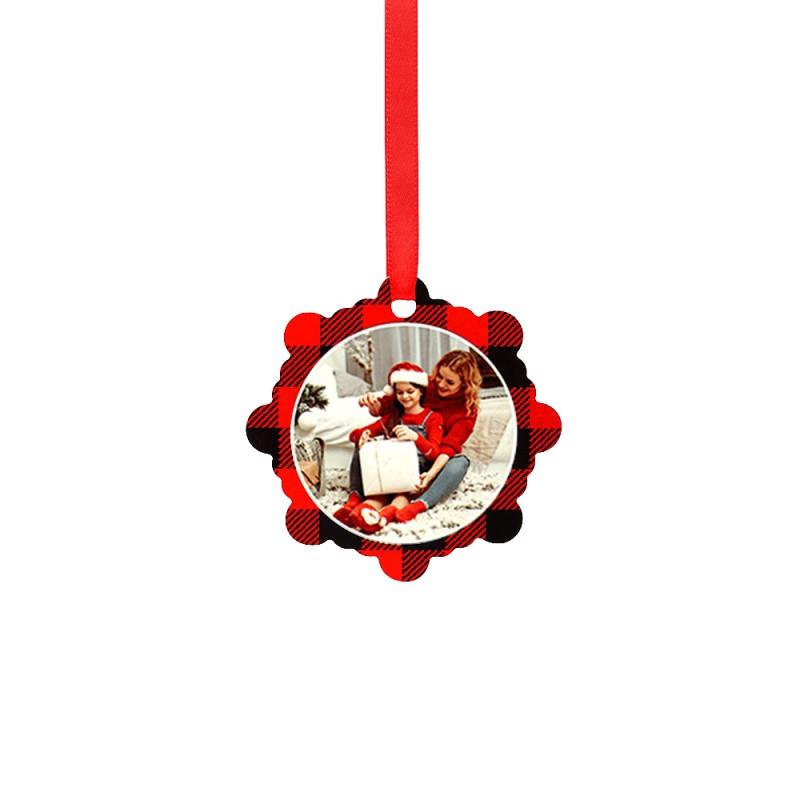 Double-side Printable Aluminum Ornaments-Snowflake Shape-2.99