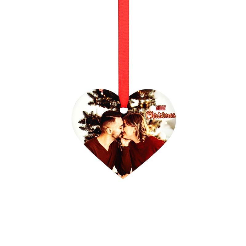 Double-side Printable Aluminum Ornaments-Heart Shape-3