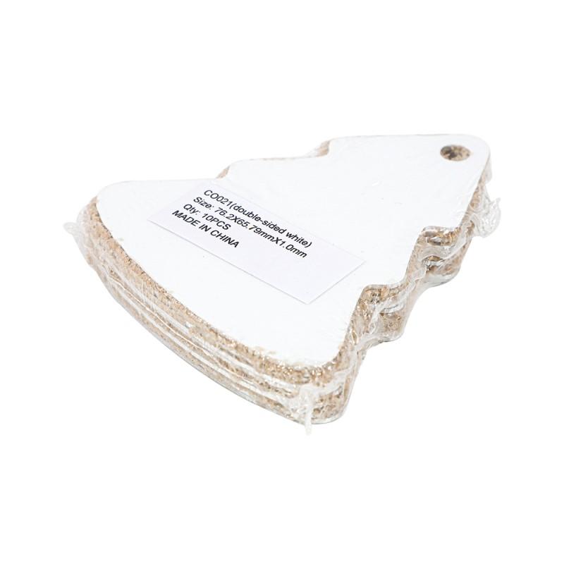"Double-side Printable Aluminum Ornaments-Xmas Tree Shape-3""x2.59""(76.2x65.79mm)"