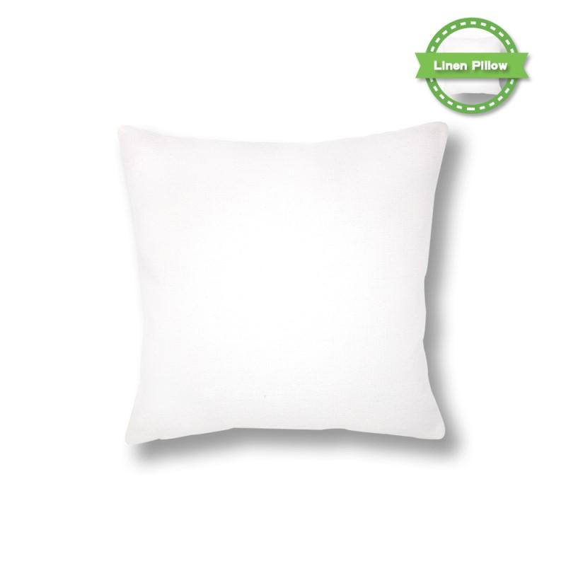 Sublimation Linen Pillowcase Pure White 18