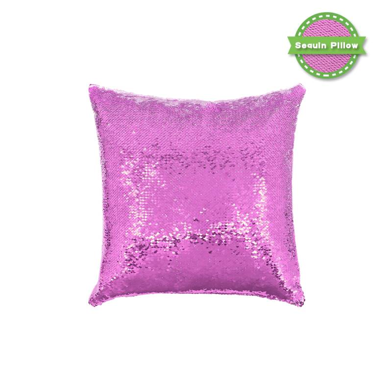 Sequin Pillow Case Square Shape Purple