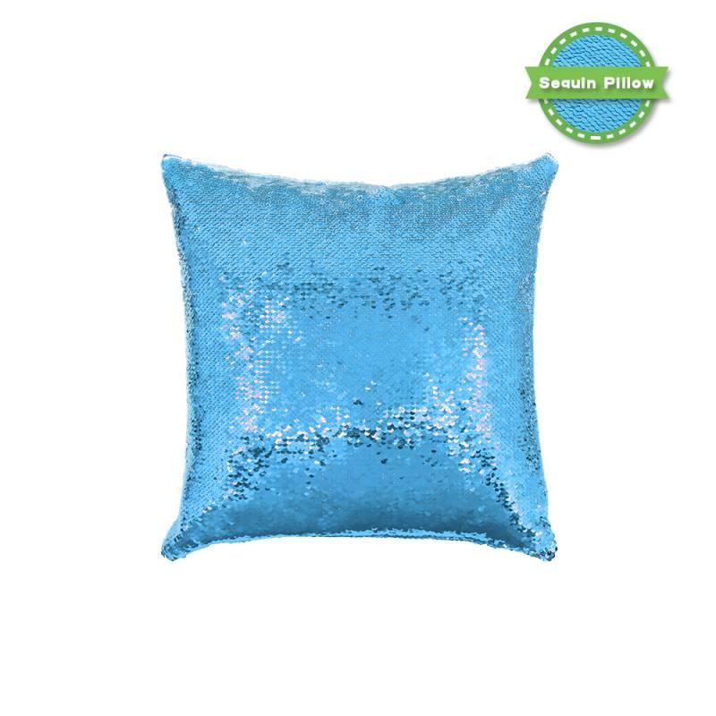 Sequin Pillow Case Square Shape Sliver
