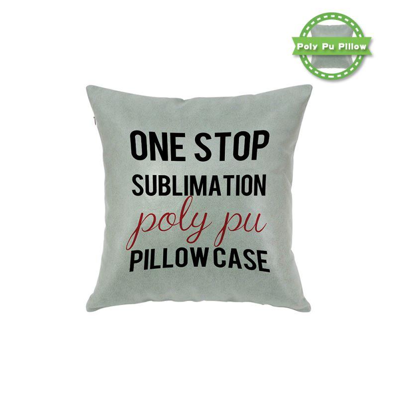 Poly Pu Pillow Case - blue