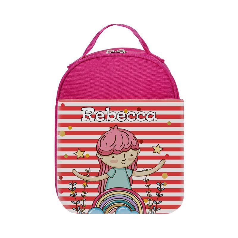 Kids Lunch Bag - Red/blue/pink/magenta