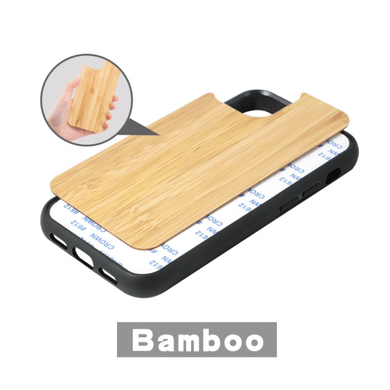 Sublimation Phone Case with Bamboo insert for iPhone 13 Series