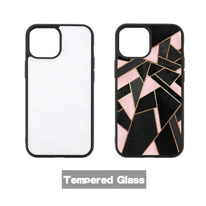 Sublimation Phone Case with Tempered Glass insert for iPhone 13 Series