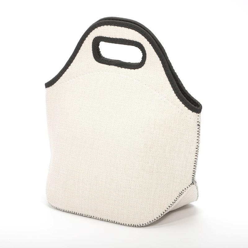 Linen Neoprene Lunch Bag